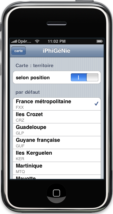 carte IGN iphone